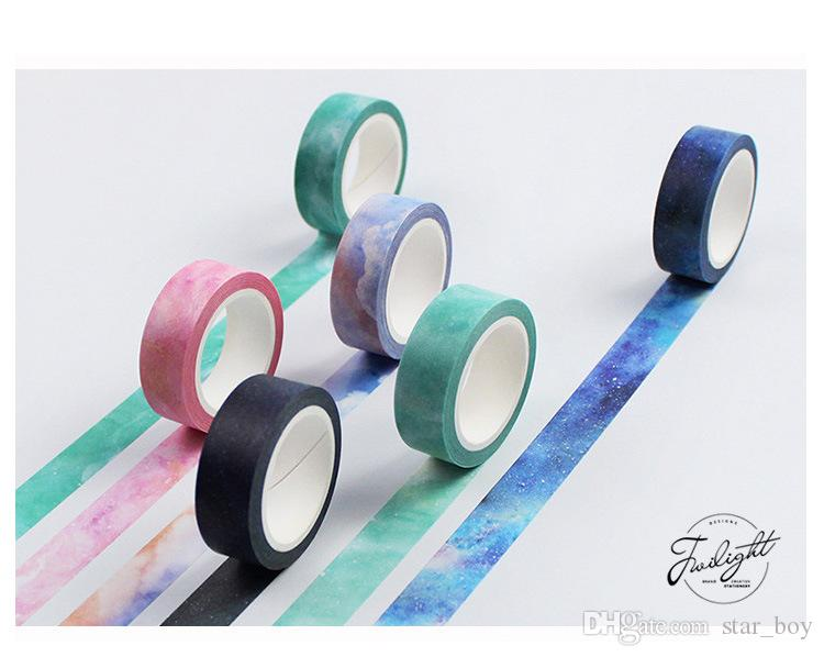 Colorful Watercolor Flags Washi Tape ~ Masking Tape Kawaii Decorative DIY Craft