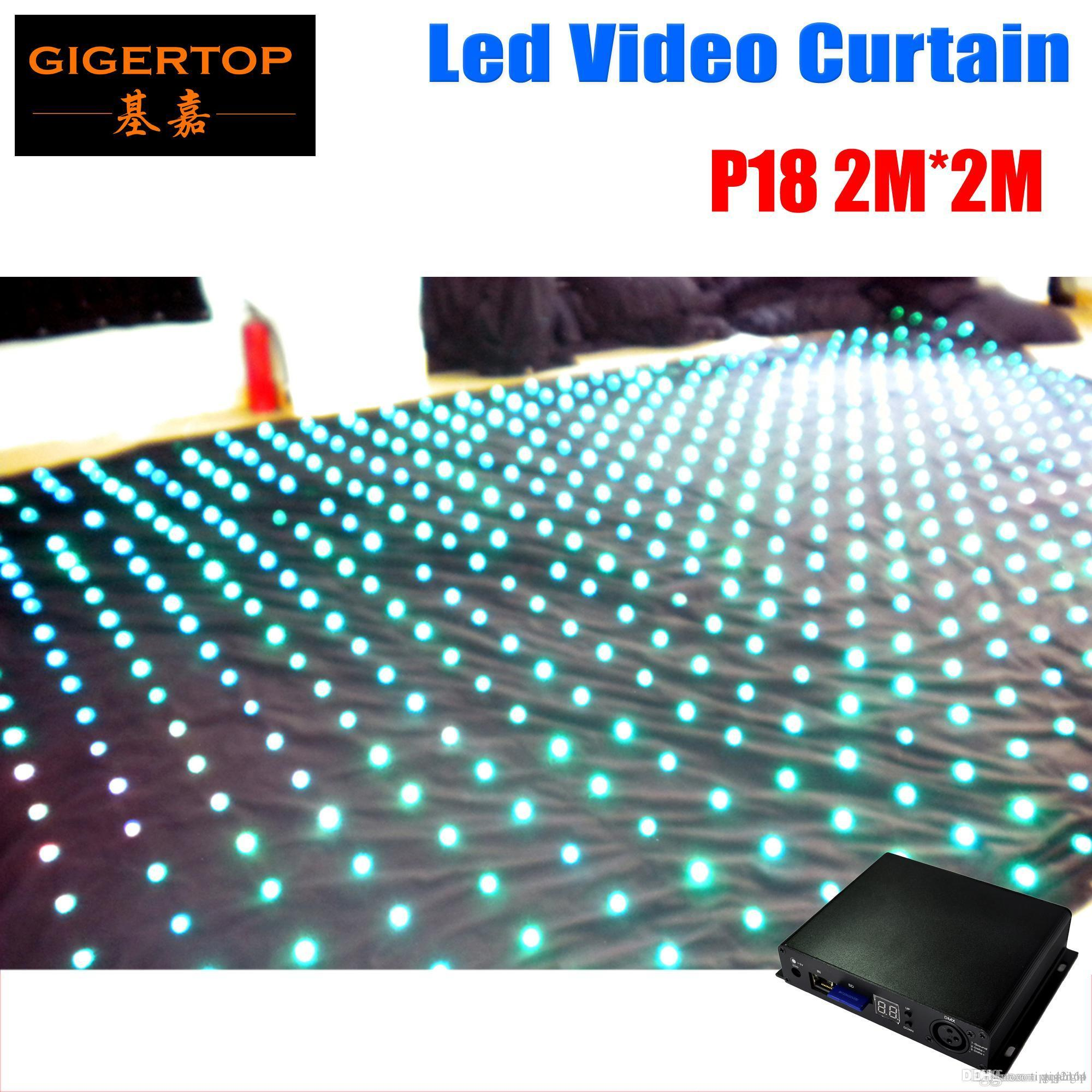 Wholesale Fire-proof Pitch 18 2M*2M LED Star Curtain On/Off Line Mode Controller LED Video Curtain For DJ Wedding Backdrops