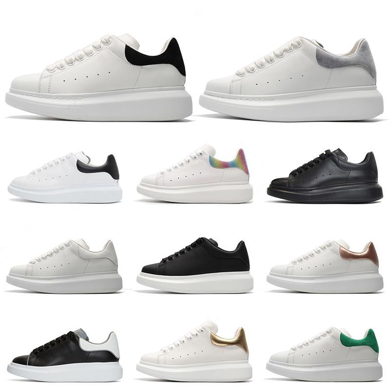 Discount Luxus-Designer-Plattform-beiläufige Schuh-Reflective Black Leather Triple-Weiß Männer Frauen Flache Sportschuhe Größe 36-44