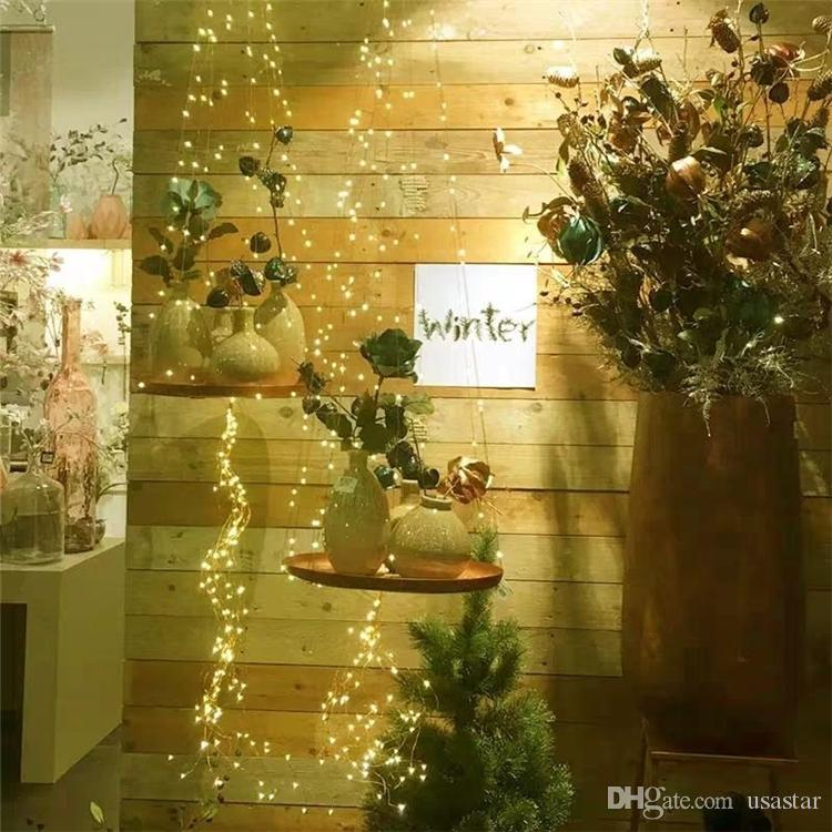 2m 5m 10m 20led 50led 100 LED String Lights Battery Operated with Remote Waterproof Copper Wire Lights for Indoor Decorative