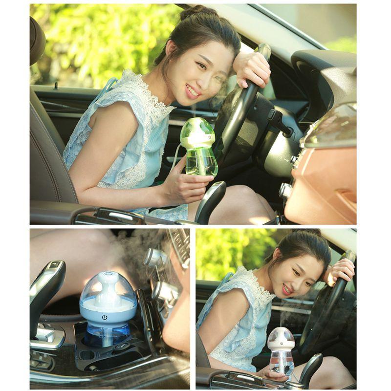 Feeding Bottle Shape Nightlight Household Outdoor Car Ultrasonic Humidifier Healthy Portable Comfortable Moisturizing Prevent Dry Heating