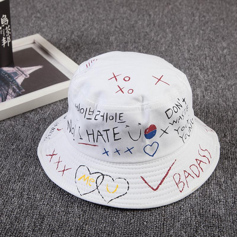 قبعة دلو في الهواء الطلق الهيب هوب قبعة صيد سوداء قبعة شمس صيفية للرجال النساء