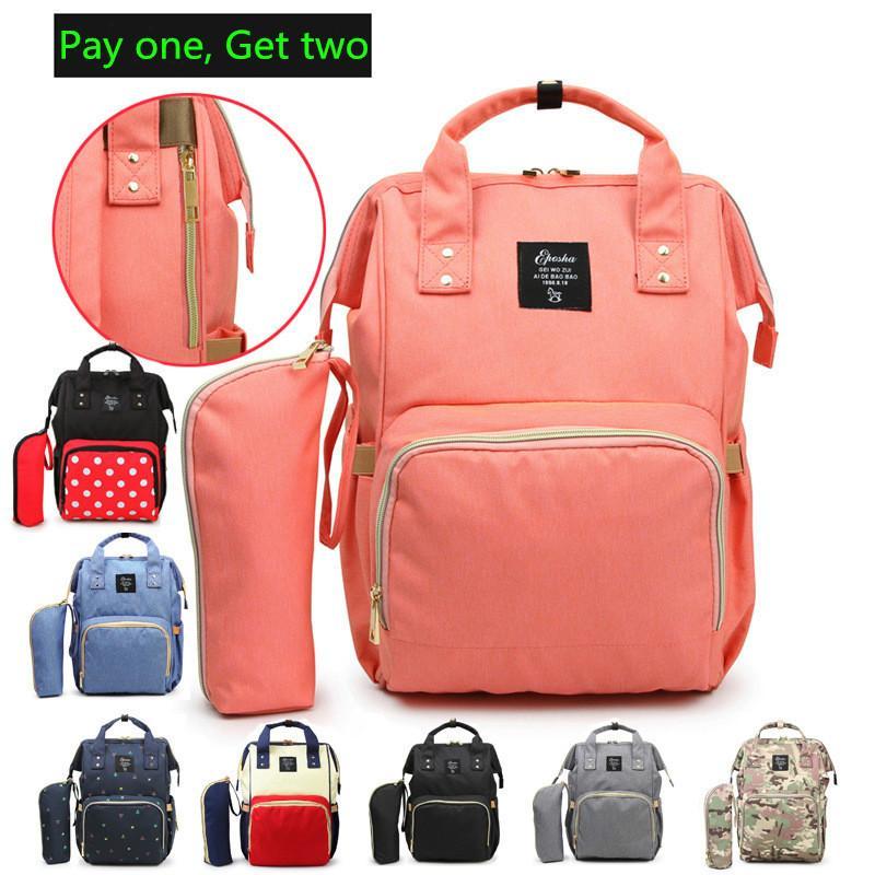 الموضة كيس حفاضات مومياء الأمومة الحفاض حقيبة السفر حقيبة الظهر قدرة كبيرة على الطفل عربة لرعاية الطفل