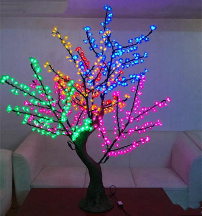 LED LED الكرز الاصطناعي زهرة شجرة عيد الميلاد الخفيفة 1152pcs لمبات 2M / 6.5FT الطول 110 / 220VAC المعطف استخدام في الهواء الطلق شحن مجاني
