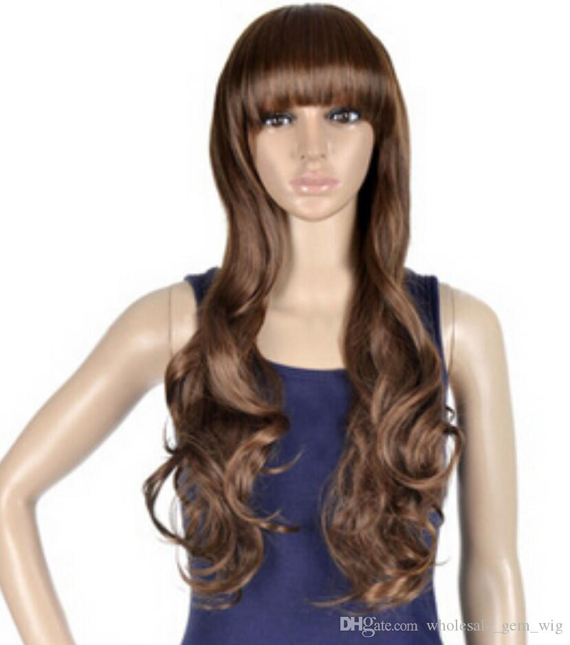 WIG Free Shipping Fashion Full Wig Long Wave Wavy Costume Party Hallows Wig