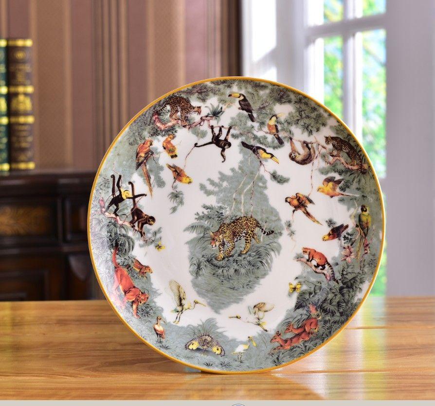 جودة عالية السيراميك لوحات تصميم الحيوان حساء لوحة العشاء لوحة الخزف طبق أدوات المائدة لوحات ستيك مزيج مجانا