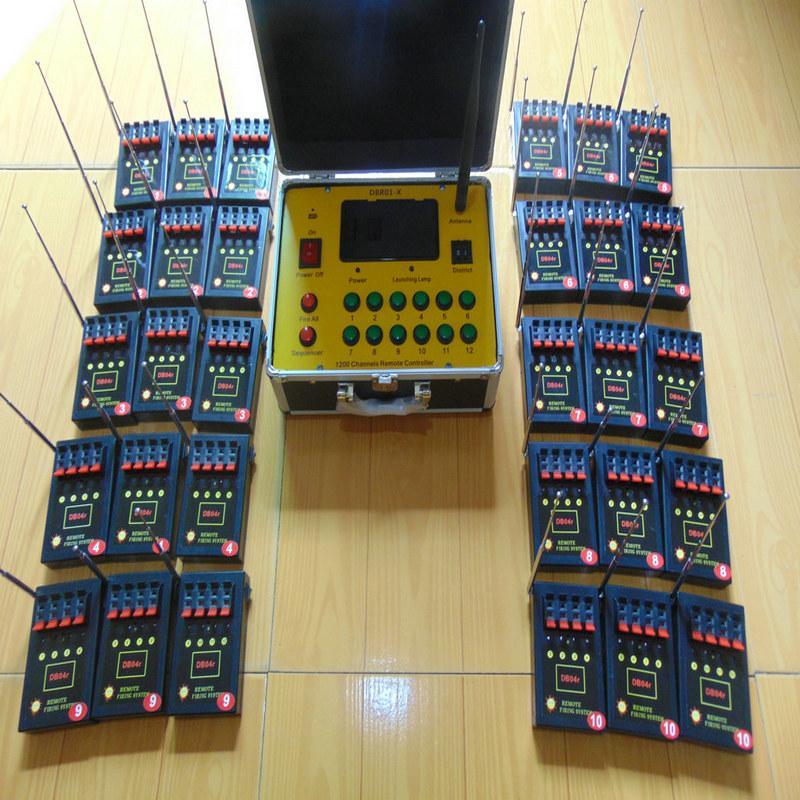 120 Cues Bilusocn entfernte Funkfeuer 500M Abstand 433MHz ce fcc Machin ein Satz / Los Feuerwerk Zündung-System Festliche Party Supplies liefern