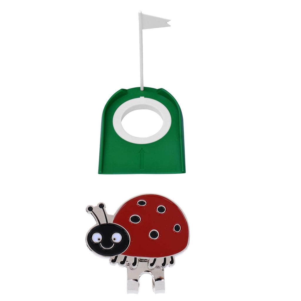 Golf Putting Practice Cup Putt Hole and One Complimentary Hat Clip Ball Marker