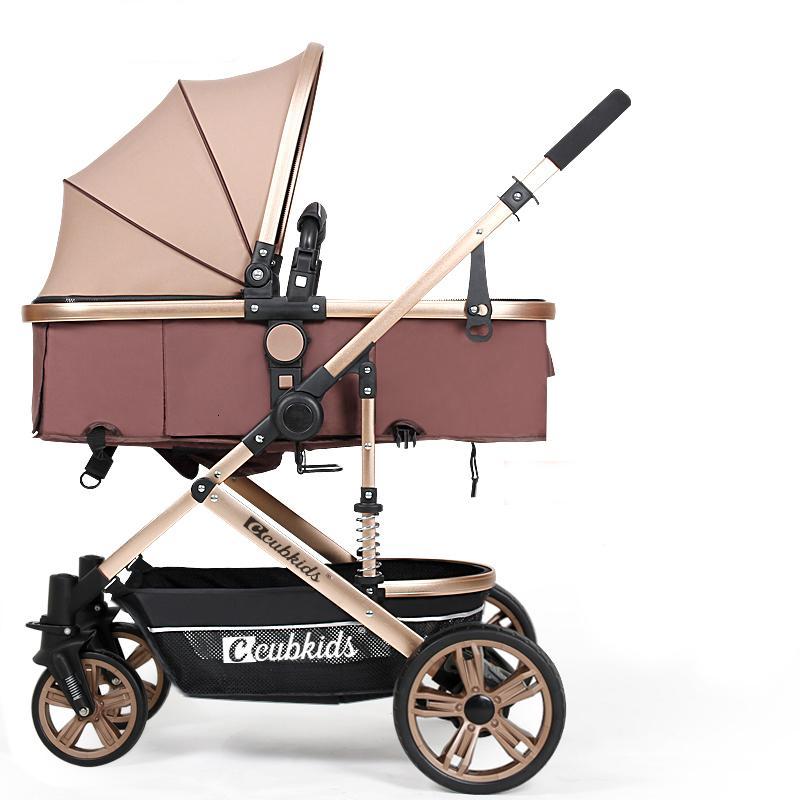 Oro Passeggino 2 in 1 bambino passeggino leggero Alta Paesaggio carrozzina Passeggino di trasporto LY191205