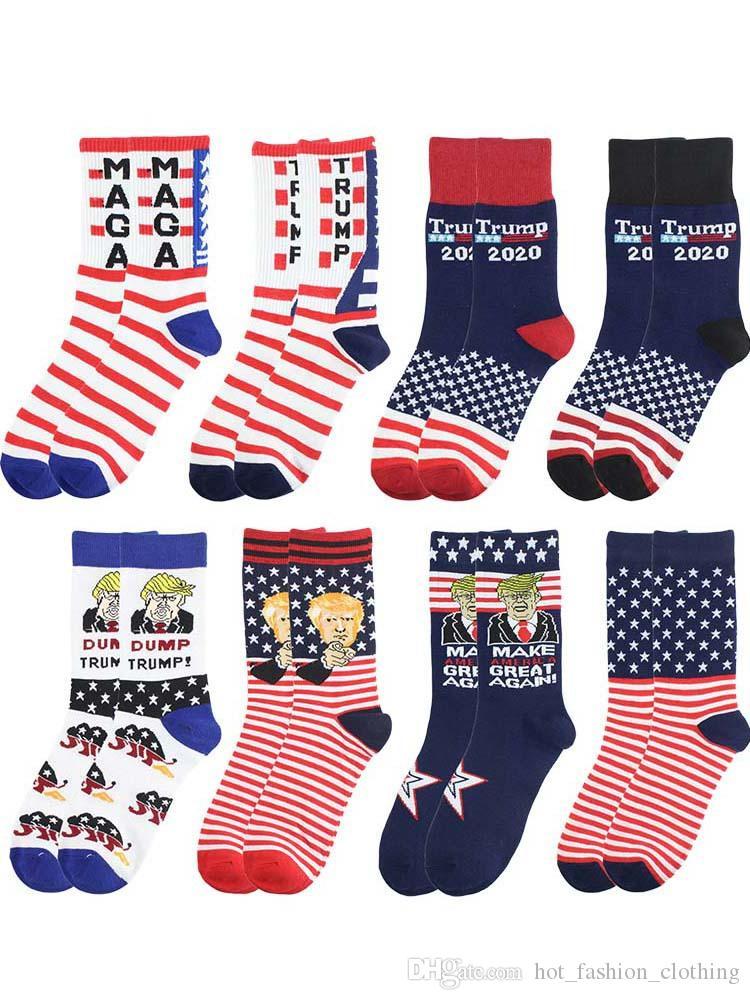 Président Donald Trump Chaussettes unisexe SAVANA Imprimer adulte Casual Crew Socks faux cheveux 3D Chaussettes Hot Vente Hip Hop Skateboard Sock