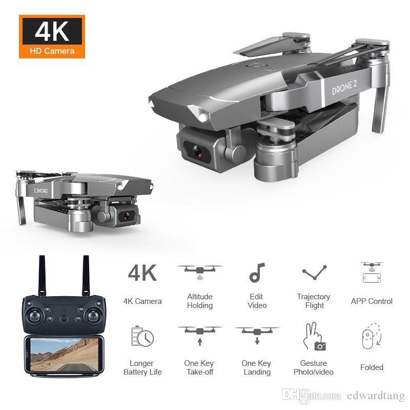 E68 4 K HD Kamera WIFI FPV Mini Acemi Drone Oyuncak, Simülatörler, Track Uçuş, Ayarlanabilir Hız, Yükseklik Tutma, Jest Fotoğraf Quadcopter, Çocuk Hediyesi, 3-2