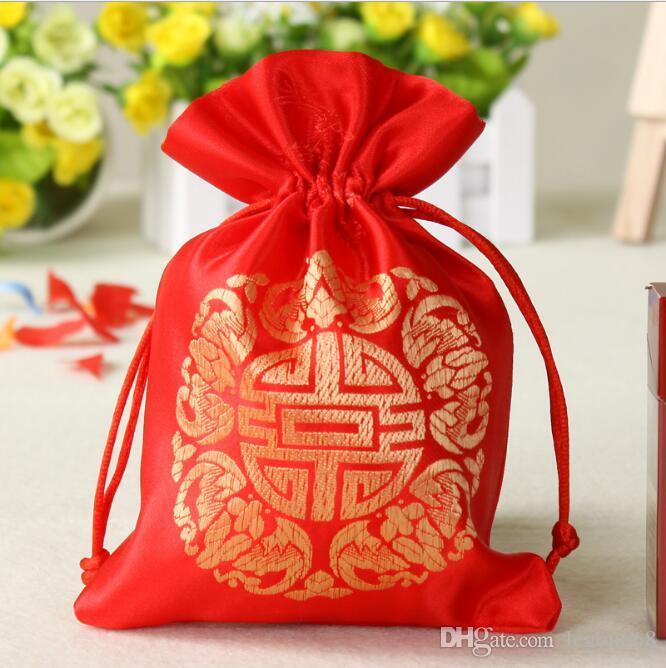 الصينية الصغيرة الحرير القطيفة مجوهرات الحقيبة الرباط بهيجا حفل زفاف لصالح كاندي هدية حقيبة تغليف أكياس التوابل الكيس GB1509