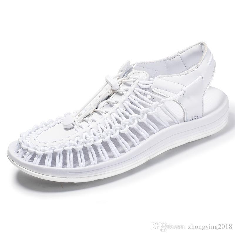 Uomini sandali popolari uomini sandali in maglia casual scarpe di grandi dimensioni roma per uomo scarpe estive all'aperto paio scarpa scarpa unisex gladiatore zy329