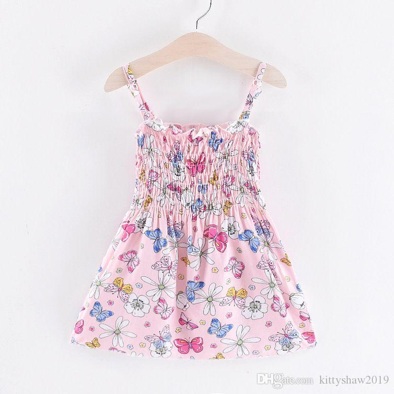 Cute Baby Girls Flower Princess Sleeveless Dress Sundress for Newborn Baby Girl