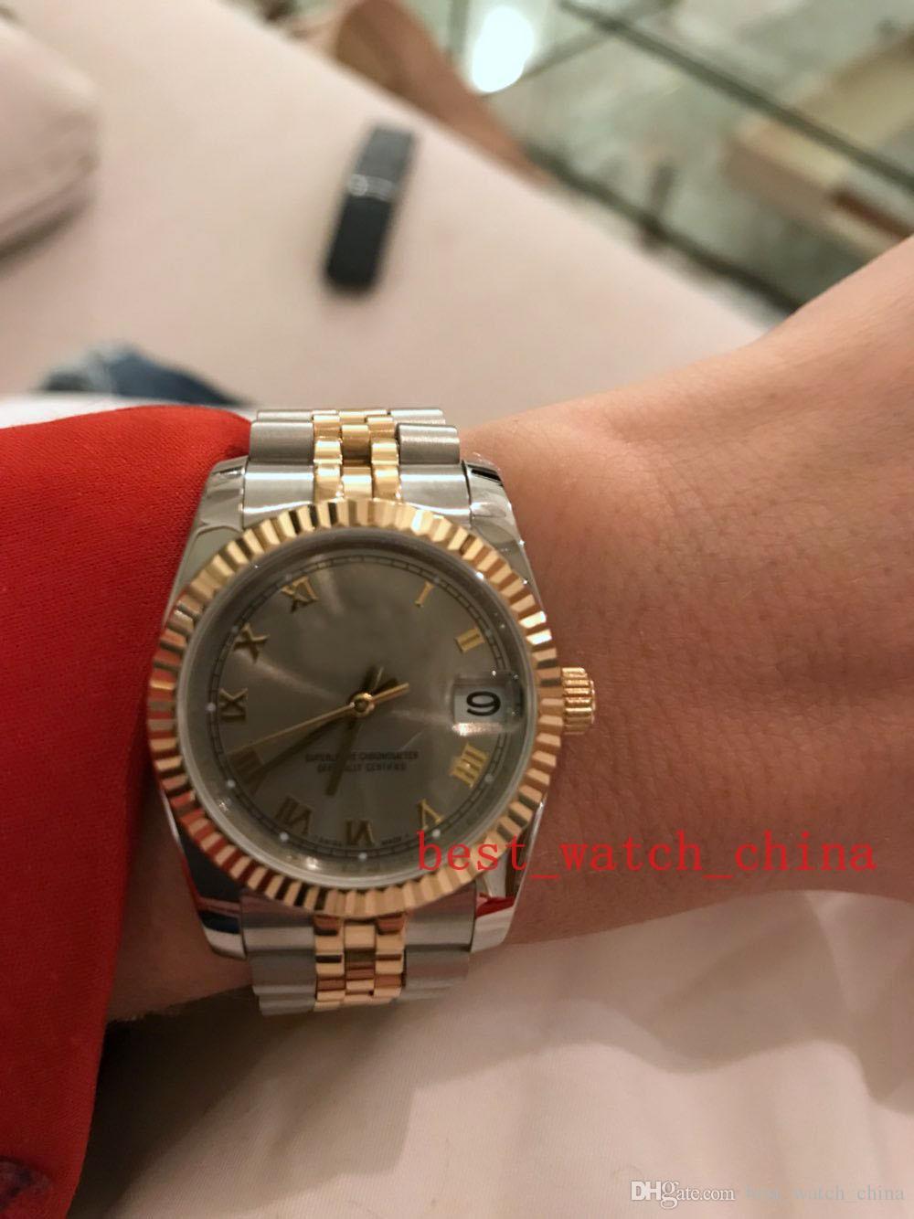 2019 montres de luxe de qualité supérieure en acier inoxydable automatique et 18k dames montre en or 31mm montre