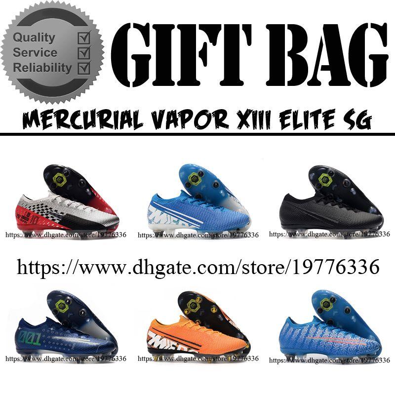 أفضل نوعية زئبقي الأبخرة 13 XIII النخبة SG أحذية كرة القدم كرة القدم المسامير أحذية MDS CR7 رونالدو نيمار NJR لينة الأرضي للرجال لكرة القدم المرابط