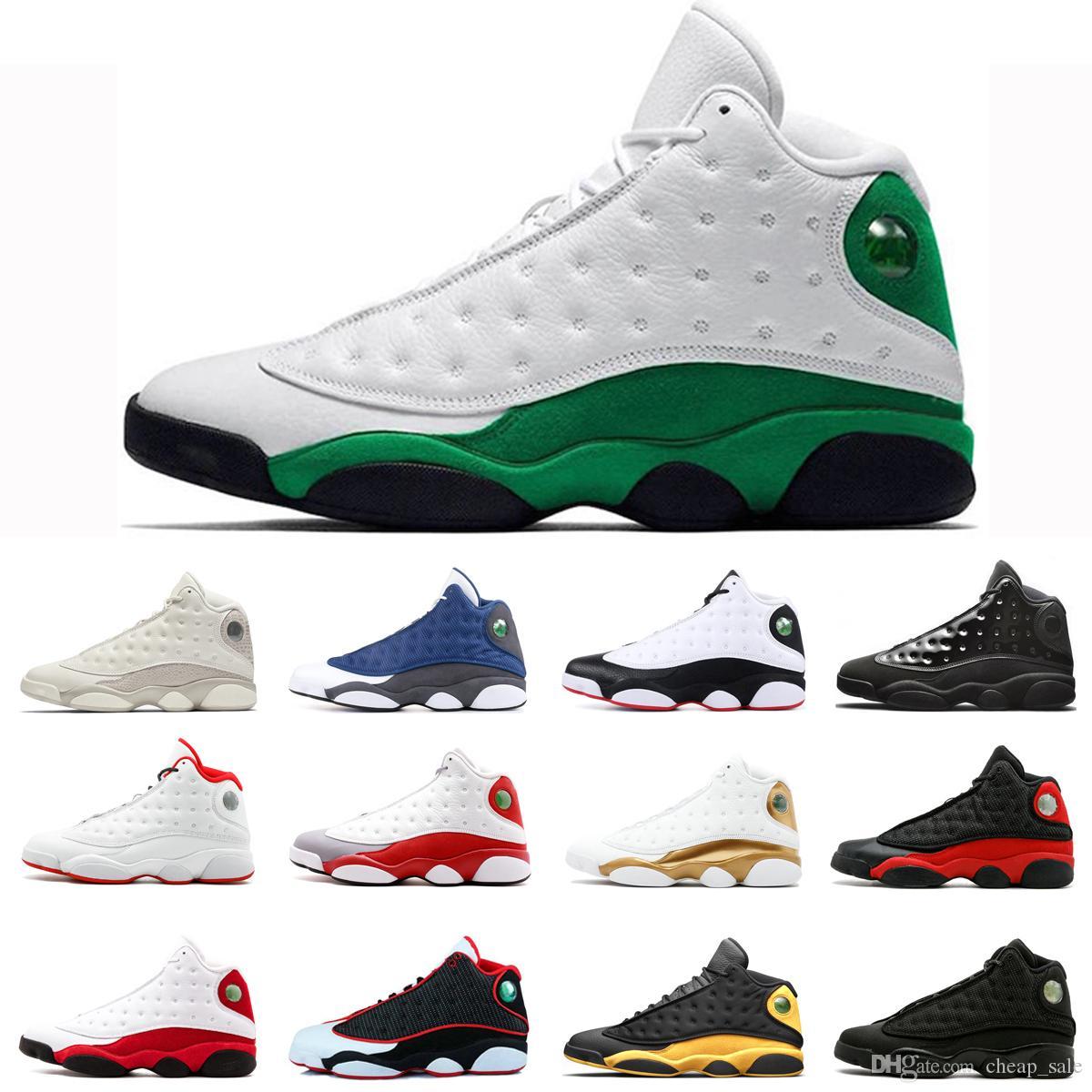 13 Celtics Green Island baloncesto zapatos 13s para los hombres Una mala jugada Hyper Real Barons Bred Phantom pista deportiva púrpura zapatilla de deporte