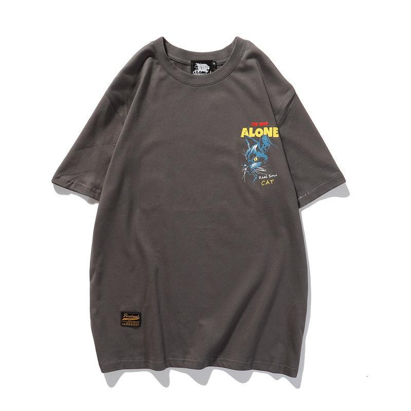 2020 homens de alta qualidade T-shirt moda verão de manga curta casuais confortável em torno do pescoço T-shirt roupas da moda GV6A
