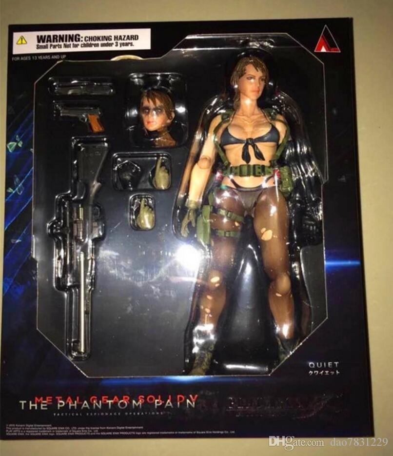 The Phantom Pain Quiet Toy Gift Play Arts Kai Metal Gear Solid V Action Figure