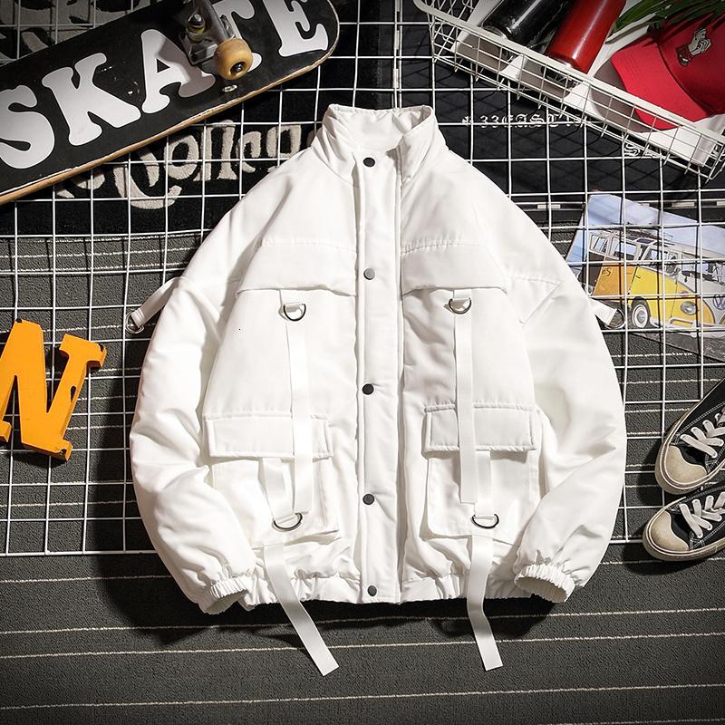 Nouveaux chaud hommes épais Veste d'hiver Mode couleur solide Casual Col Manteau Homme Streetwear sauvage en vrac Coton Veste vêtement Homme