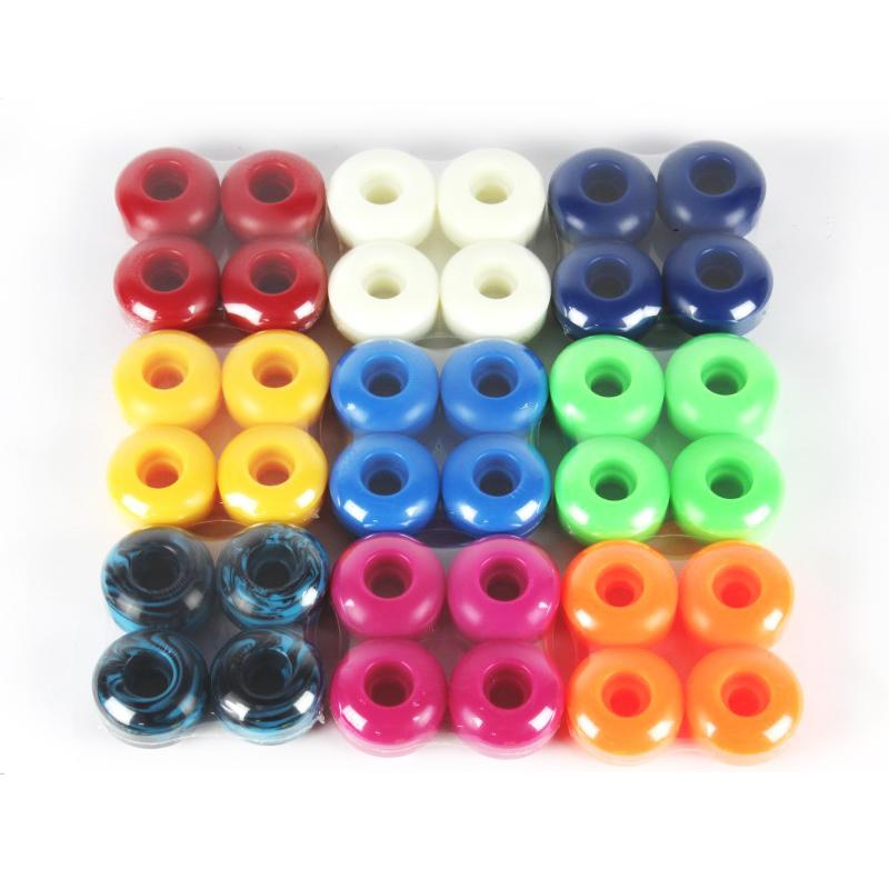 Free Shipping 95A Wheels 4pcs Skateboard Wheels Double Rocker 52*32mm PU Downspeed Sliding Skateboard Parts