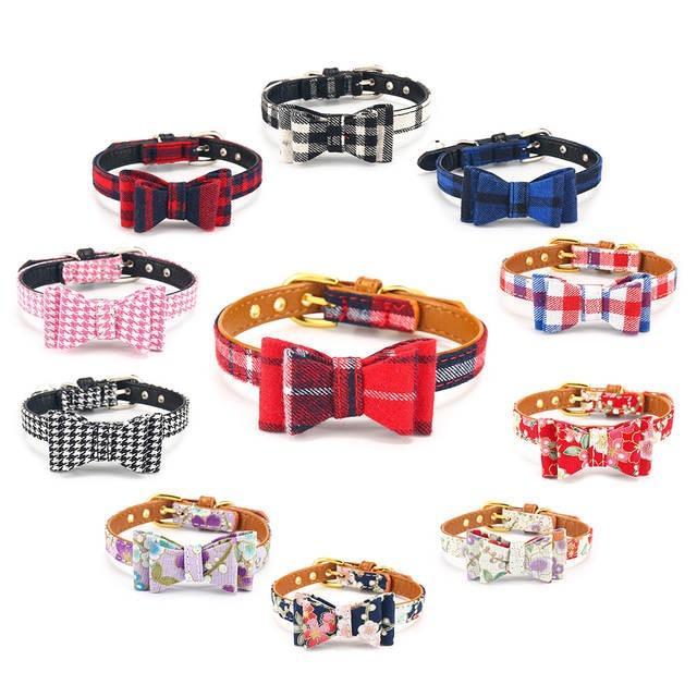 Katzenhalsband mit Bell-Haustier-Hundehalsband für Katzen Einstellbare Welpen Kragen Chihuahua-Hundehalsbänder für kleine Hunde Katze-Leine-Haustier-Produkte