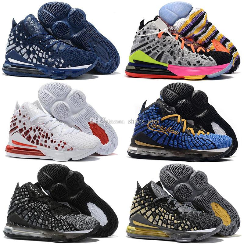 ليبرون 17 المستقبل لوس انجليس ليكرز الباذنجان أحذية الرجال لكرة السلة المساواة أوريو ولدت جيمس 17 أسود أبيض مصمم رجالي احذية رياضية المدربين 36-46