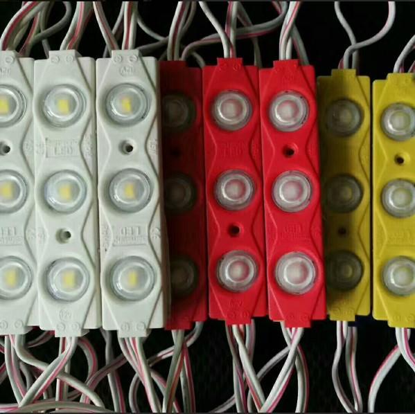 módulos de LED armazenar frente janela sinal de luz da lâmpada 3 SMD 5630 5730 Injection branco IP68 Waterproof Fita LED backlight