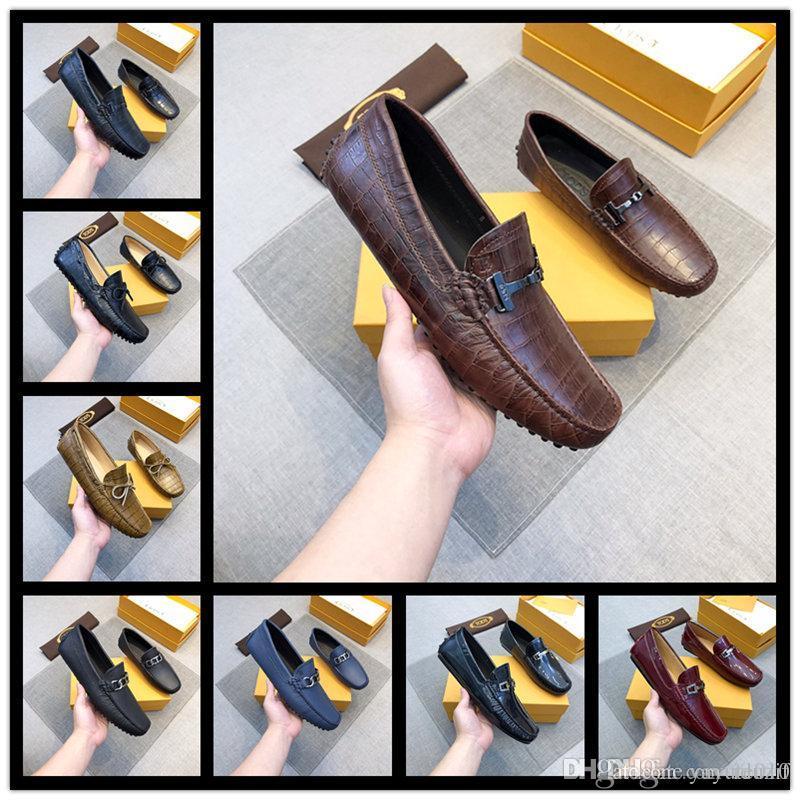 2018 Plus La Taille Des Hommes Chaussures De Luxe En Cuir Casual Conduite Oxford Chaussures Chaussures Hommes Mocassins Mocassins Chaussures Italiennes Pour Hommes taille 38-45