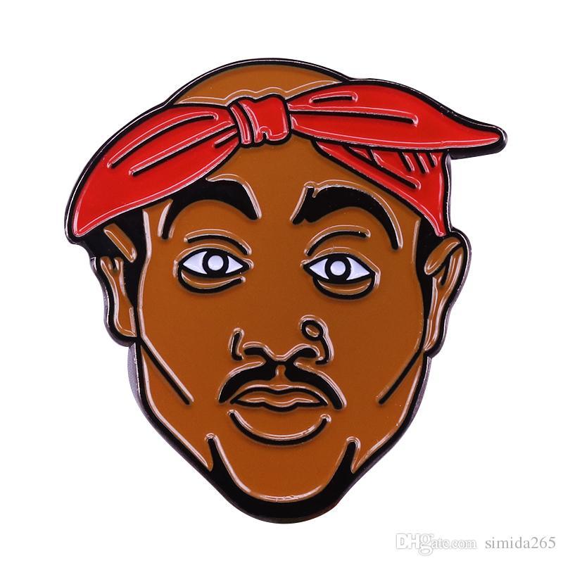 كل eyez على لي 2Pac توباك قبعة دبوس كاليفورنيا الساحل الغربي 90S الهيب هوب مغني الراب بروش فن البوب التبعي