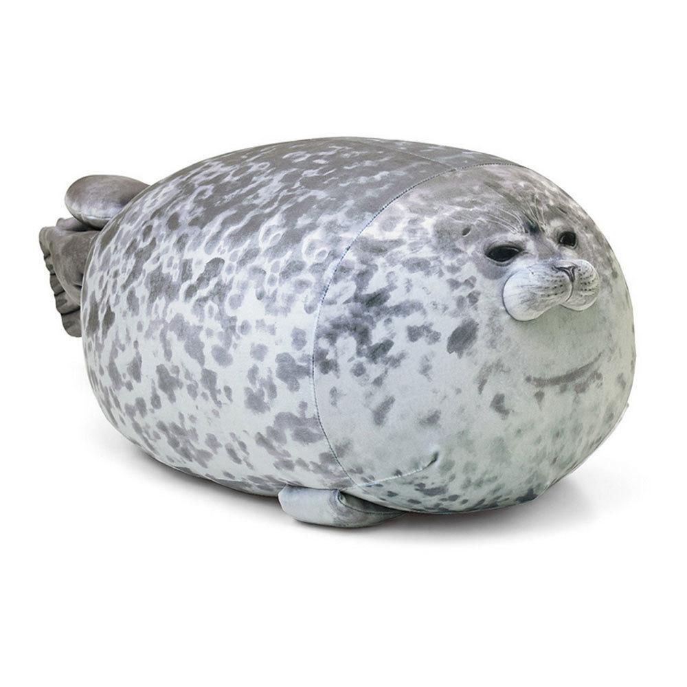 Fat Seal Pillow 30/40/60 centímetros de algodão macio macio Animal de mar bonito Plush Toy Marine Pillow Y200623
