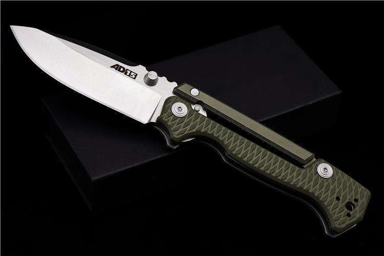 AD-15 en acier à froid de haute qualité verrouillage scorpion couteau pliant lame D2 poignée G10 utdoor outil de poche couteau de camping de chasse tactique EDC
