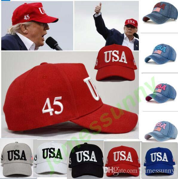 9 styles chauds Make America Great Again Chapeaux Donald Trump Republican Snapback Sports Chapeaux Casquettes de baseball USA Drapeau Adultes Hommes Femmes Chapeaux De Sport