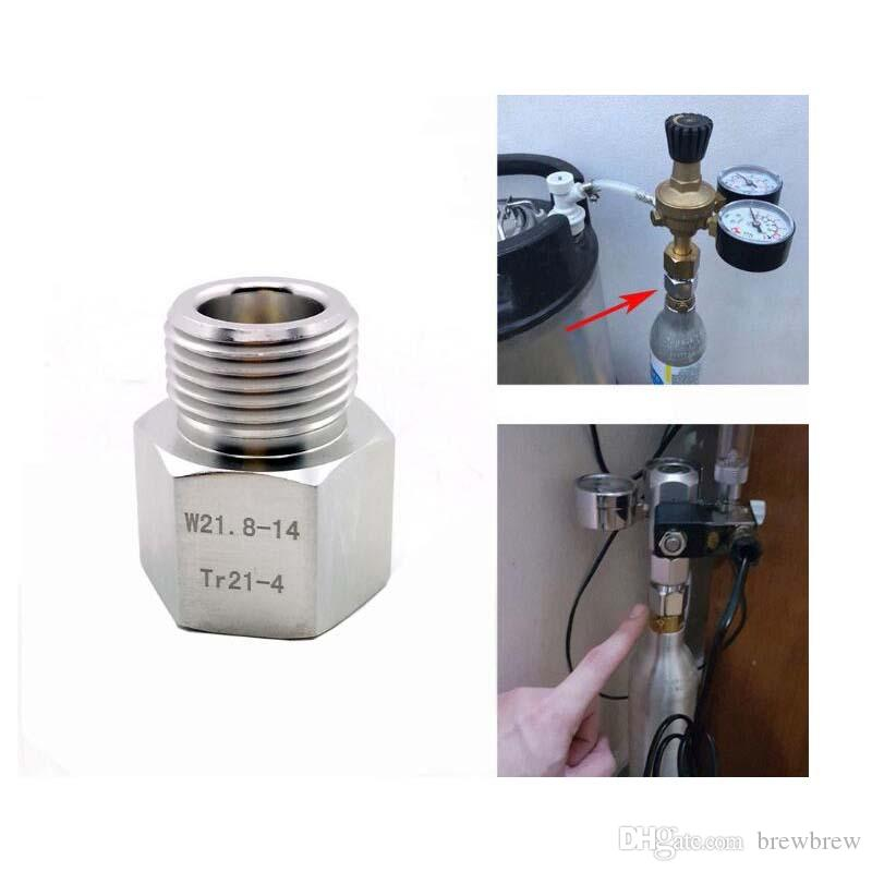 Paintball Sodastream Bottle Tank Cylinder adapter converter Tr21-4 female to w21.8 male, for home brew or aquarium