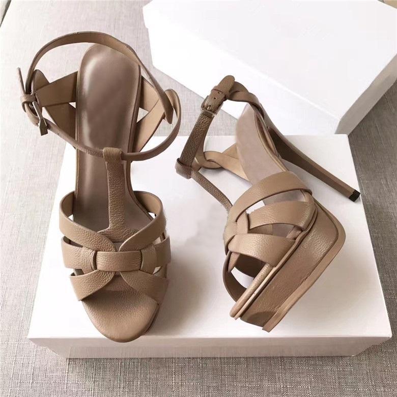 Sıcak Satış-2017 Yeni Yaz Ayakkabı Kadın Tribute Sandalet T-kayışı Süper Yüksek Platfom Sandalet Tasarımcı Slaytlar Kadın Sandalet Parti Klasik Ayakkabı