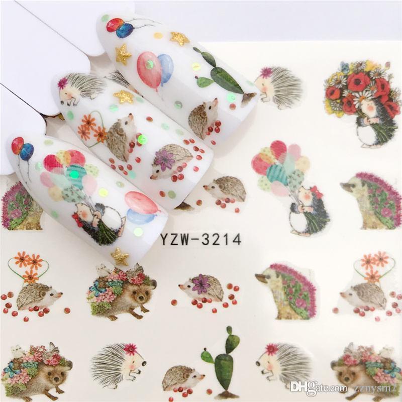 Nail Art Nail sticker2019 جديد المنزلق الوشم زهرة المياه صائق سانتا كلوز ثلج كامل يلتف تصاميم الشارات