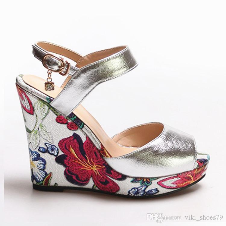 detailed pictures best cheap outlet store sale 2019 Summer New Real Photo Fashion Girl Beautiful Shoes Color ...
