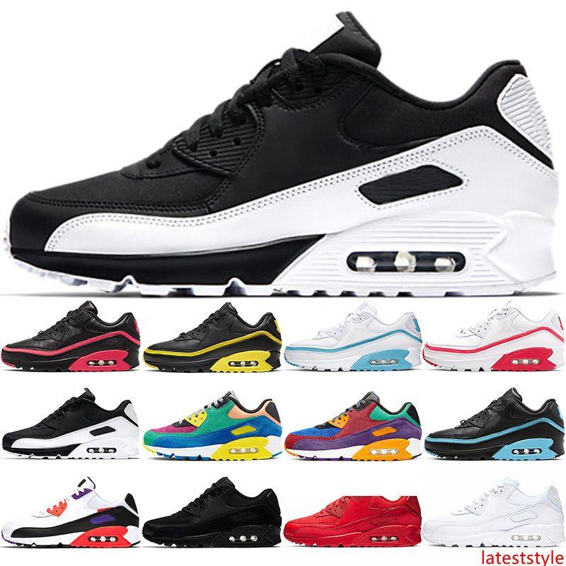 90 Running Shoes Homens Mulheres Instrutores do Mens Stock anos 90 INVICTO Triplo Black Red White Viotech Designer instrutor desportivo Sneakers Tamanho 36-45