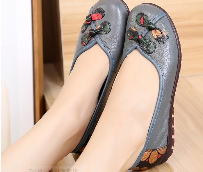 2019 Souliers pour dames au printemps et en automne avec un nouveau style et des chaussures à talon plat et à fond arrondi pour le confort et la détente de la mère au 287