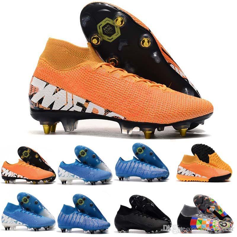 Hot Superfly VII 7 360 Elite FG VI CR7 Ronaldo Neymar NJR Mens Meninos Sapatos de Futebol de Tornozelo Alto Chuteiras Chuteiras Tamanho 39-45