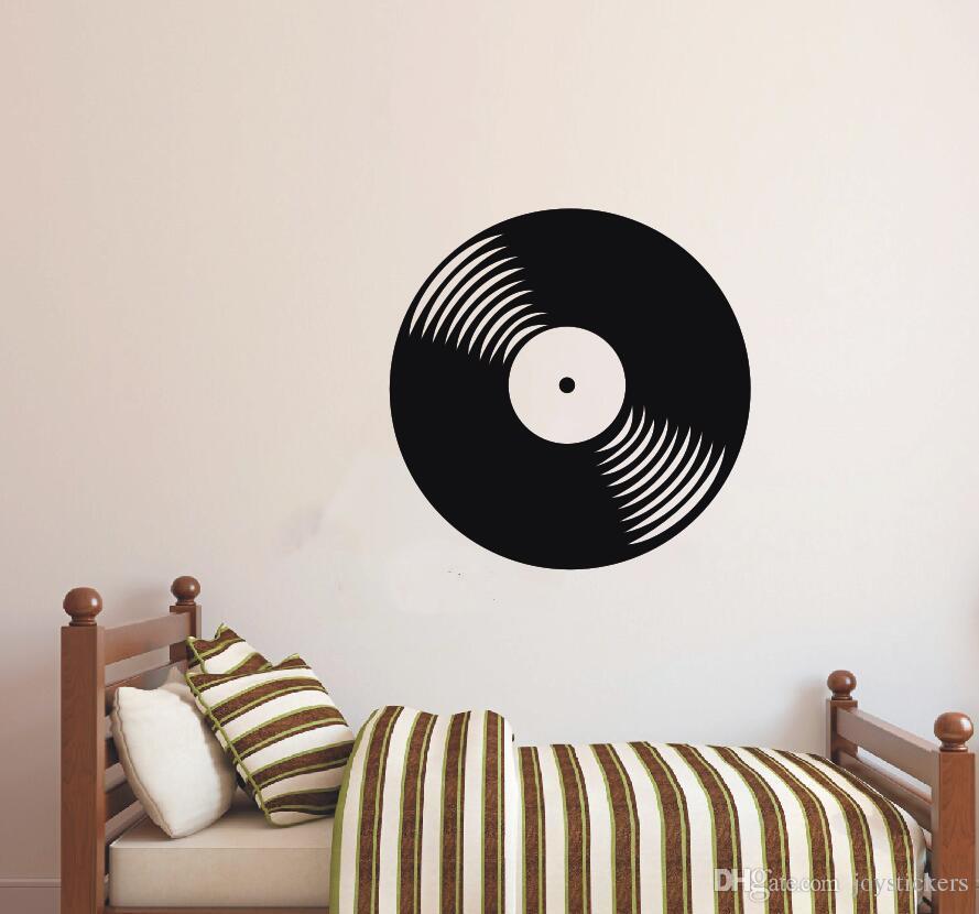 غرفة صائق الجدار ملصق الفينيل الفينيل سجل CD ريترو الموسيقى الكلاسيكية البيت الرئيسية المعيشة الديكور فن إزالة الملصق