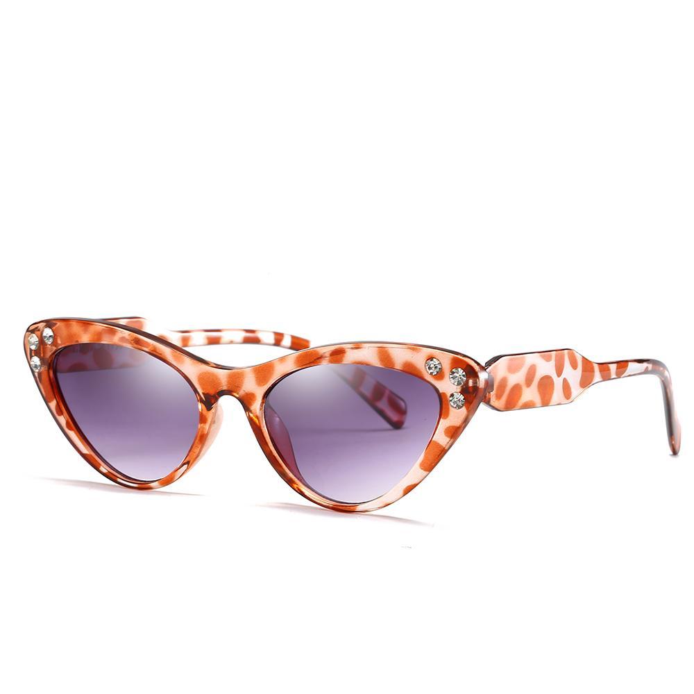 새로운 최고 브랜드 디자이너 선글라스 고양이 눈 프레임 다이아몬드 크리스탈 프레임 간단한 인기있는 스타일 Uv400 보호 안경 최고 품질 벨트 상자