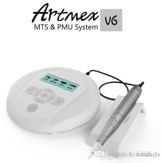 agulhas New Arrival Maquiagem Profissional Permanente Kits Tattoo Machine Artmex V6 Eye Brow Lip Rotary Pen V6 MTS PMU sistema livre 5pcs