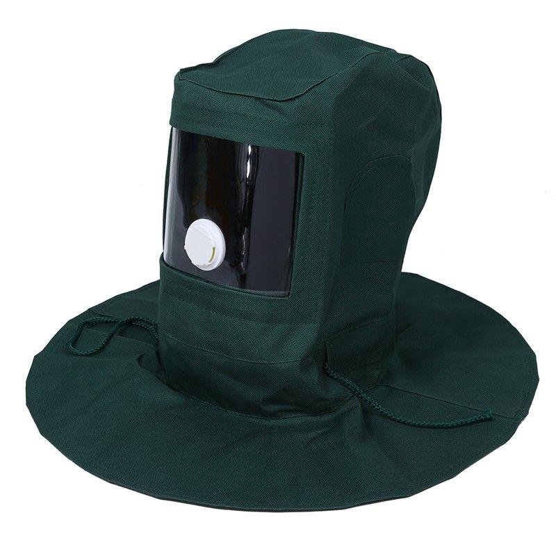 Sand Blasting Hood Abrasive Sandblaster Mask Cap Wind Dust Anti Protective Tool