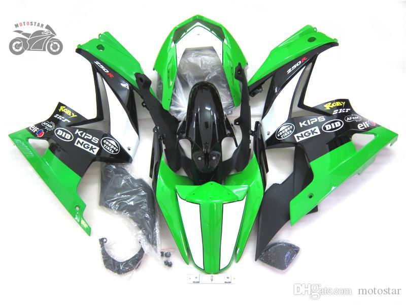 川崎忍者のための注文のABSフェアリングキット250R ZX250R ZX 250 2008-2012 EX250 08-12アフターマーケットフェアリングボディワークス