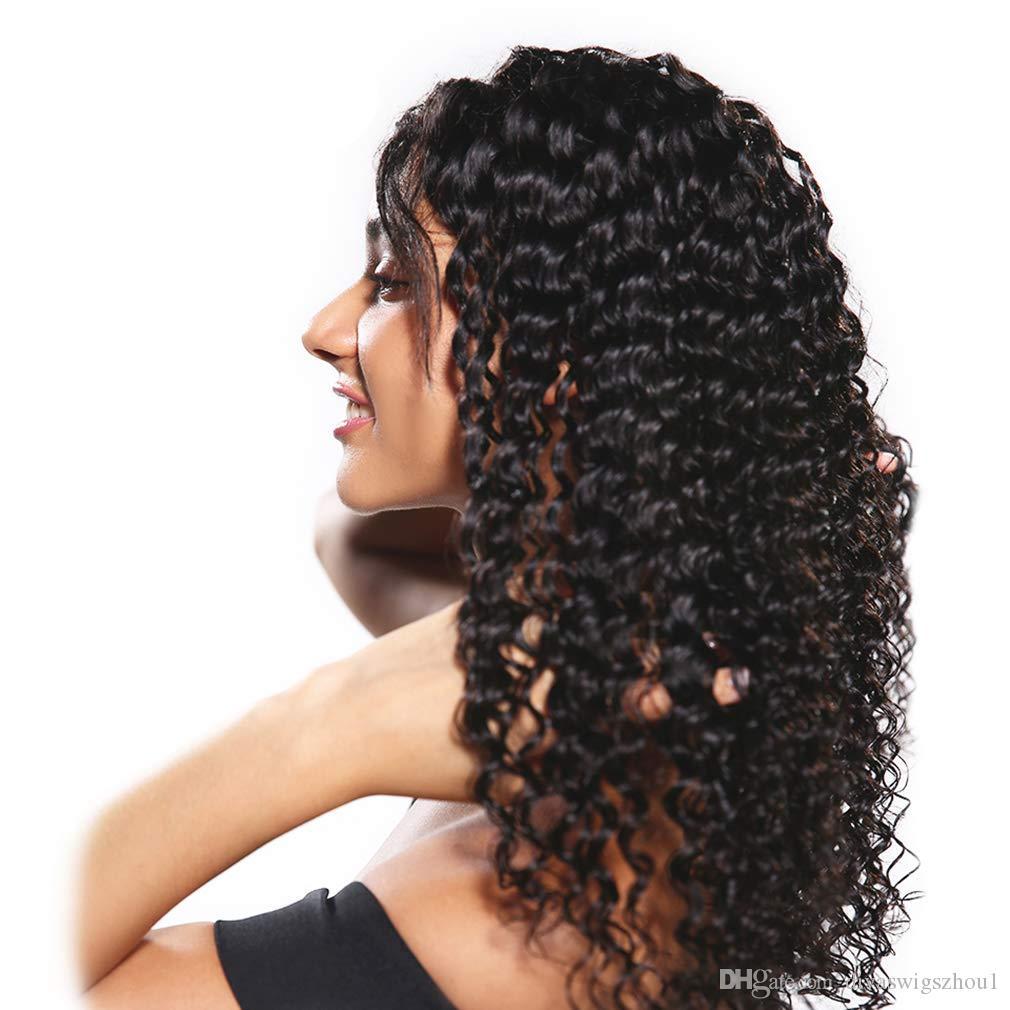 البرازيلي مجعد الرباط الباروكة موجة عميقة 360 الرباط كامل الشعر الإنسان الباروكات مع مصنع شعر الطفل لأسعار الجملة 360 الرباط الباروكات موجة عميقة