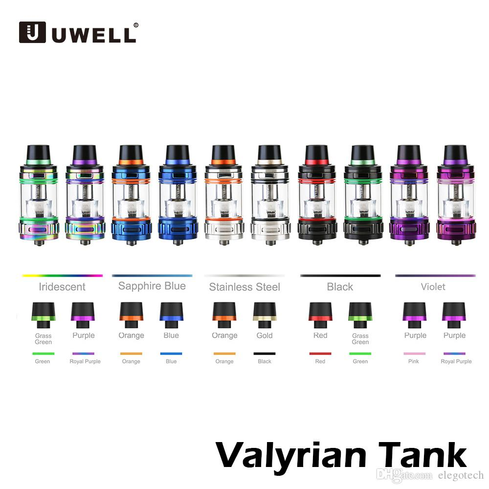Uwell Valyrian Tank Atomizer 5ml Flip-tip Top Filling Airflow Subohm Tank with Quad coil 0.15ohm For 510 Thread Mods 100% Authentic