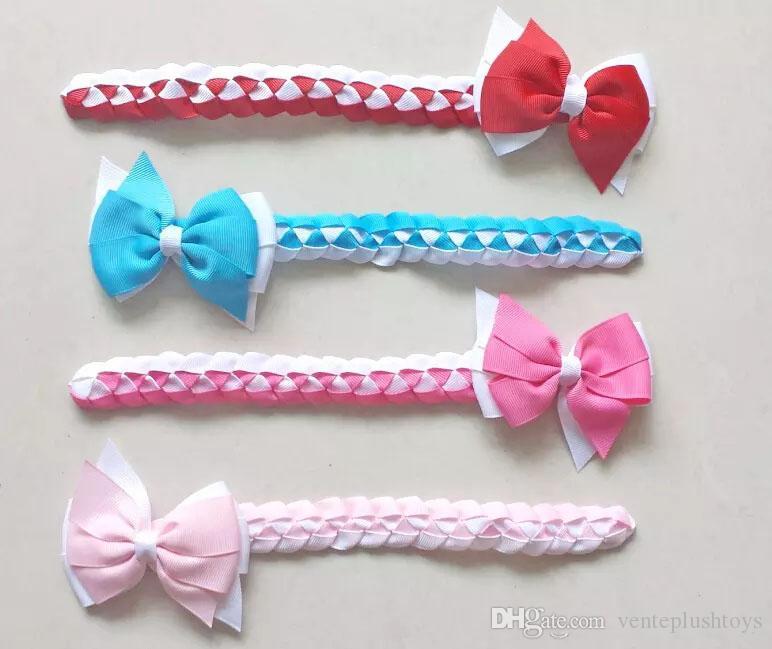 20pcs girl women Synthetic hair Bun wraps bows clips Ponytail Holder gingham plaid Donut Ring Head Wrap Hairband Headbands50pcs Updo hair Bu