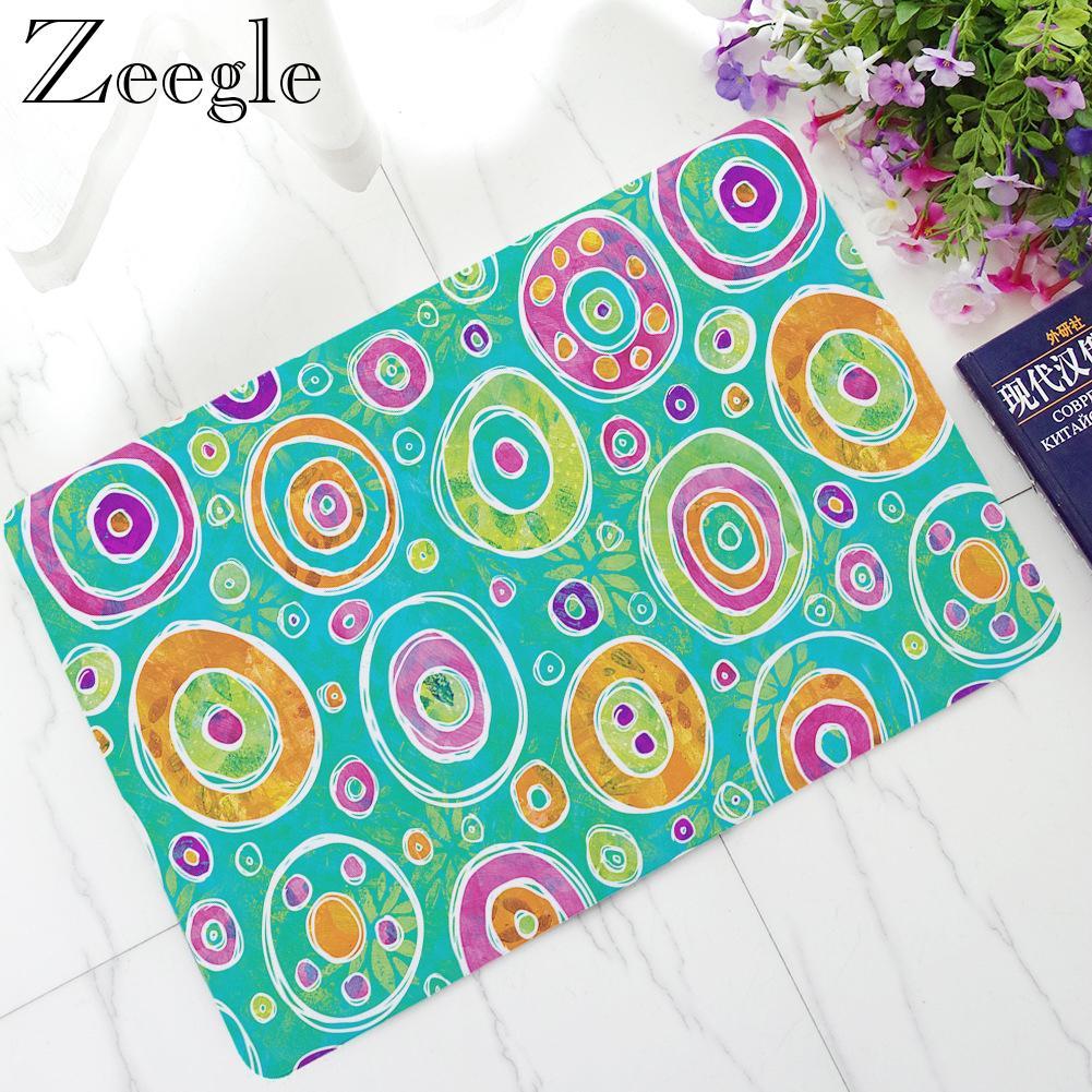 Zeegle Funny Rubber Doormat Home Decoration Non-slip Floor Mat Outdoor Rug Waterproof Thin Mat Floor Foot Rug