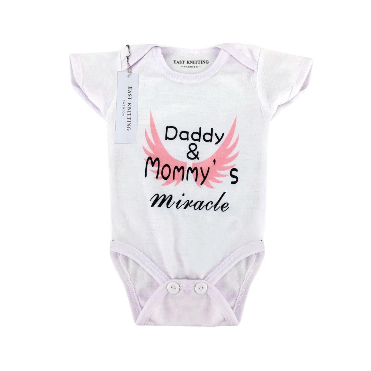 Letter Day 2020 New Spring Summer Baby Jumpsuit Moda Newborn Baby Kids Meninas Meninos roupa do Pai Imprimir Romper Roupa